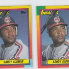 Sandy Alomar RC Tradng Card Lot of (2) 1990 Topps Traded #2T Indians