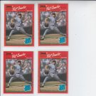 Pat Combs RC Trading Card Lot of (4) 1990 Donruss #44 Phillies NMT