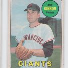 Joe Gibbon Baseball Trading Card 1969 OPC #158 Giants EX+ *BILL