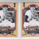 Carlton Fisk Baseball Trading Card Lot of (2) 2012 Panini Cooperstown 46 Red Sox