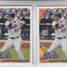 Jesus Feliciano RC Trading Card Lot of (2) 2010 Topps Update #US-26 Mets