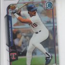 Juan Gonzalez Rookie Recollection Refractor 2015 Bowman Chrome #RRI-JG  Rangers