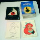 Little Mermaid Complete Set With All Inserts 1991 Pro Set 127 cards