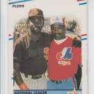 Tony Gwynn Tim Raines Trading Card 1988 Fleer #631 AS