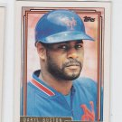 Daryl Boston Gold Parallel Trading Card 1992 Topps #227 Mets