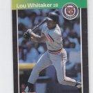 Lou Whitaker Trading Card 1989 Donruss #298 Tigers