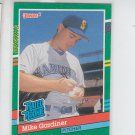 Mike Gardiner RC Rated Rookie Trading Card Single 1991 Donruss #417 Mariners