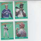 Andre Dawson Tom Henke Juan Samuel Jack Clark 1988 Fleer All Star Team Lot of 4