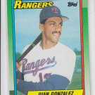 Juan Gonzalez RC Trading Card Single 1990 Topps #331 Rangers QTY Avail