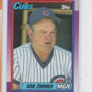 Don Zimmer MGR Trading Card Single 1990 Topps #549 Cubs