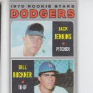 Bill Buckner Jack Jenkins RC Trading Card 1970 Topps #286 Dodgers  VGEX *BILL