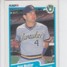 Paul Molitor Trading Card Single 1990 Fleer #330 Brewers