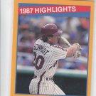 Mike Schmidt 87 HL Trading Card Single 1988 Score #657 Phillies