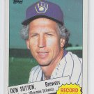 Don Sutton Trading Card Single 1985 Topps #10 Brewers Record Breaker