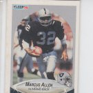 Marcus Allen Trading Card Single 1990 Fleer #249 Raiders