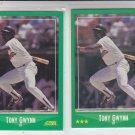 Tony Gwynn Trading Card Lot of (2) 1988 Score #365 Padres