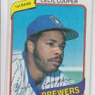 Cecil Cooper Trading card Single 1980 Topps #85 Brewers NMT