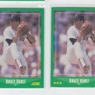 Bruce Hurst Trading Card Lot of (2) 1988 Score #360 Red Sox