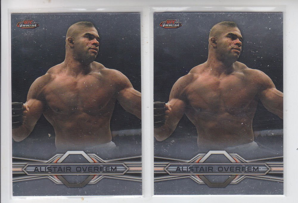 Alistair Overeem Trading Card Lot (2) 2013 Topps UFC Finest #41