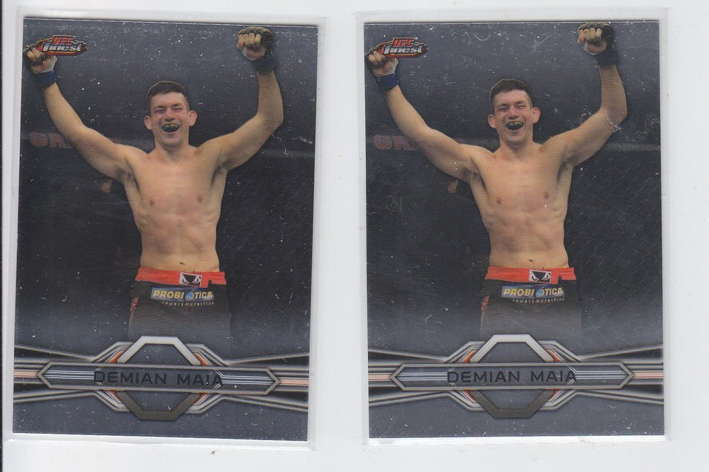 Demian Maia Trading Card Lot of (2) 2013 Topps UFC Finest 86