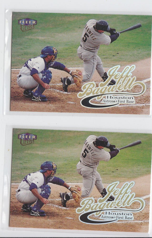 Jeff Bagwell Trading Card Lot of (2) 1999 Fleer Ultra #207 Astros