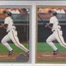 Ellis Burks Trading Card Lot of (2) 1999 Topps Opeing Day #151 & #251 Giants