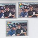 Edgar Martinez & Robin Ventura Trading Card Lot of (3) 1993 Fleer #716