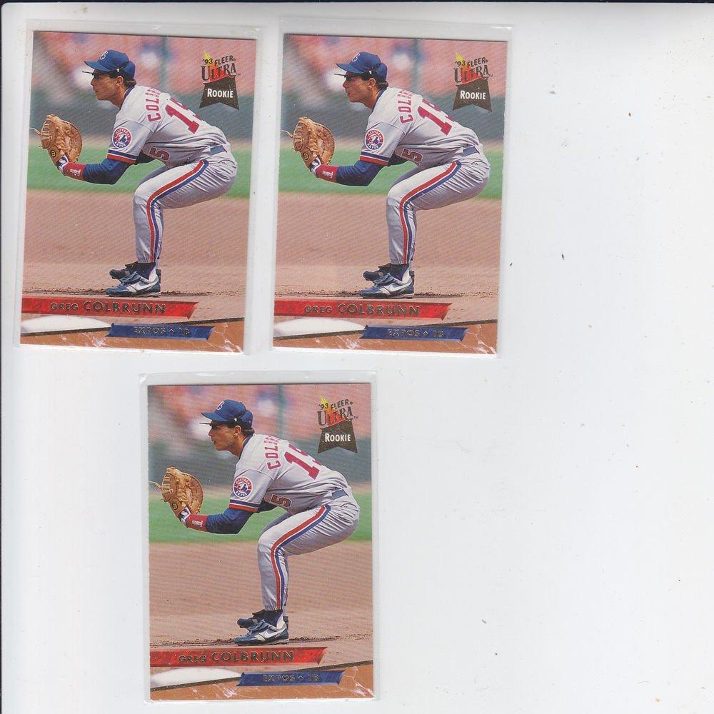 Greg Colbrunn Trading Card Lot of (3) 1993 Fleer Ultra #64 Expos