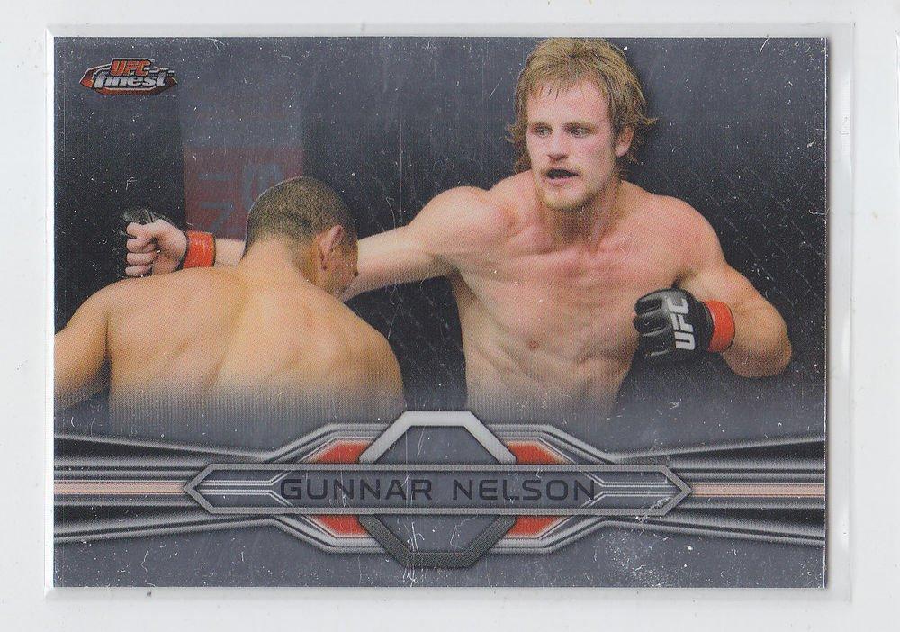 Gunnar Nelson Trading Card Single 2013 Topps UFC Finest #27