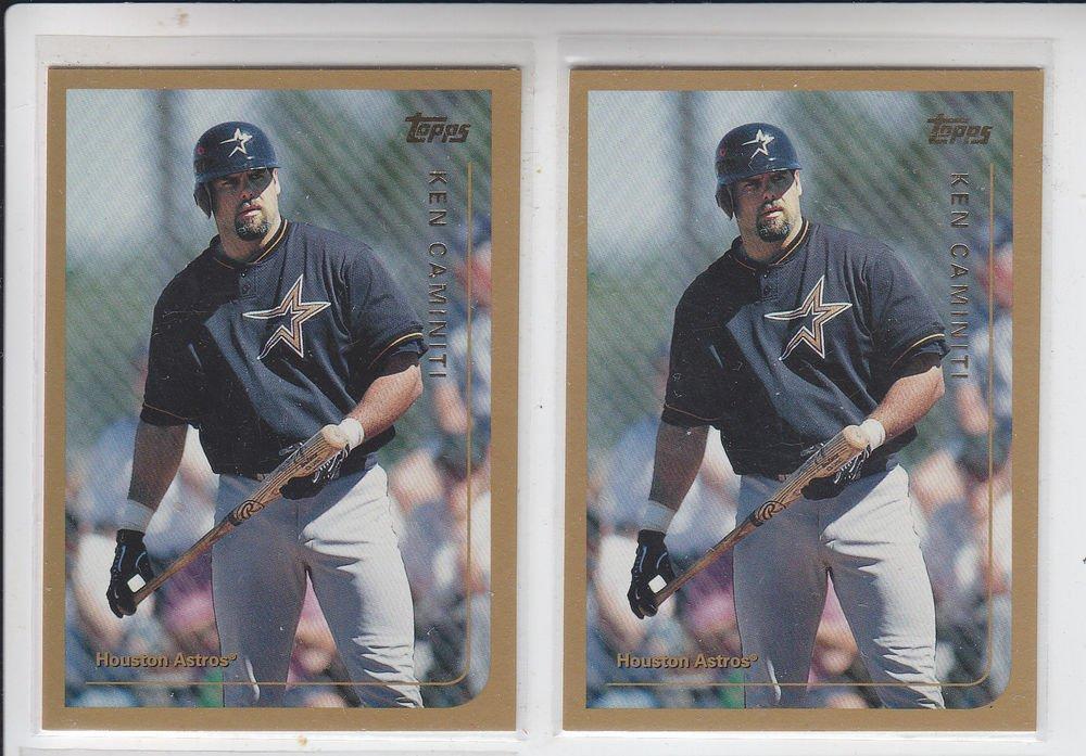 Ken Caminiti Trading Card Lot of (2) 1999 Topps #375 Astros