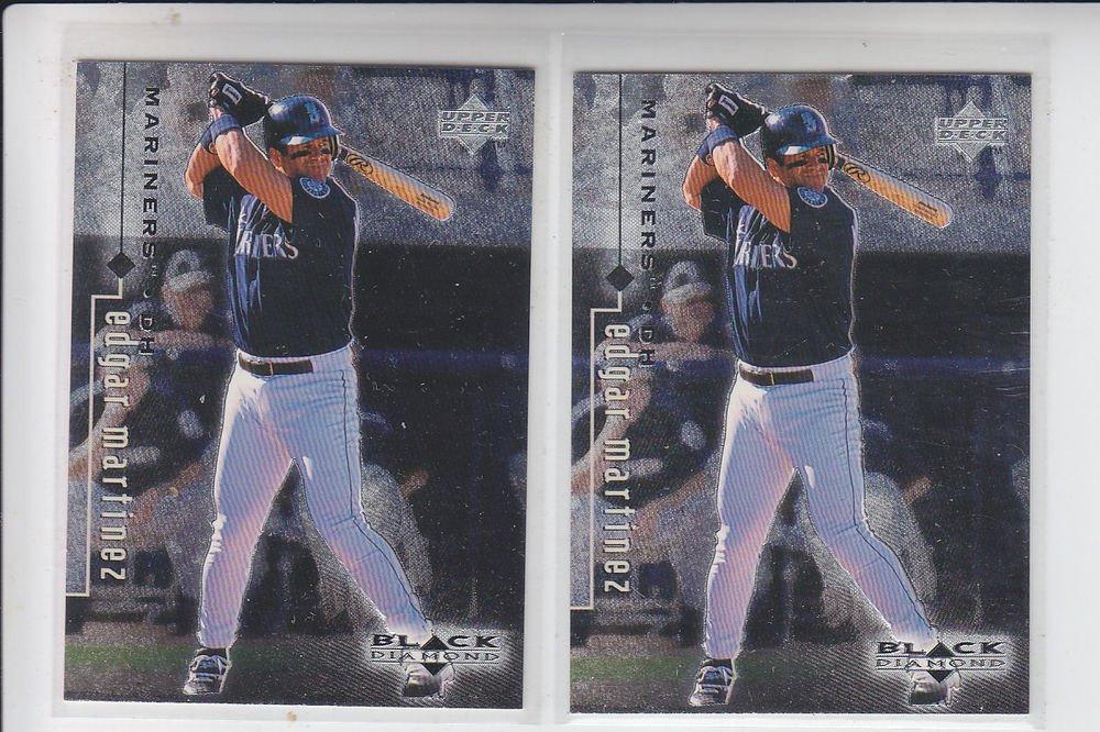 Edgar Martinez Trading Card Lot of (2) 1999 UD Black Diamond #78 Mariners