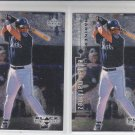 Edgar Martinez Trading Card Lot of (2) 1999 UD Black Diamond #78 Mariners