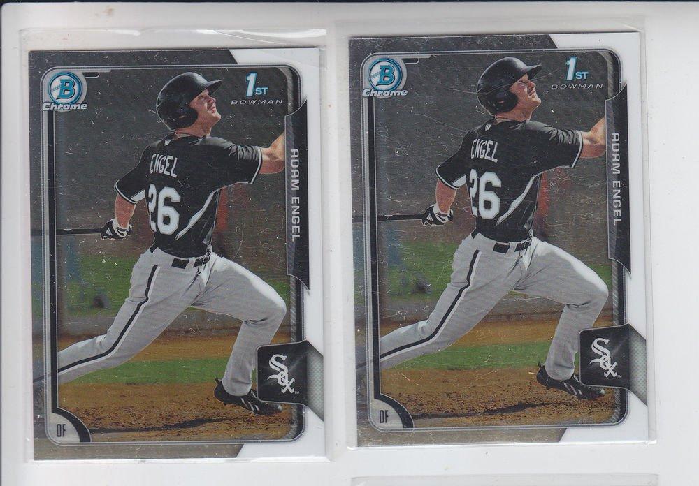 Adam Engel Lot of (2) 2015 Bowman Chrome #BC99 White Sox