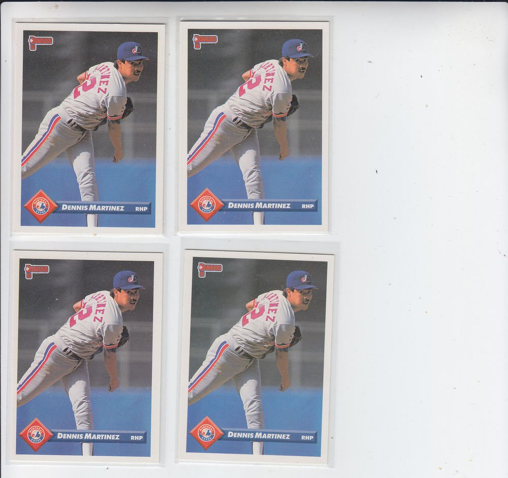 Dennis Martinez Trading Card Lot of (4) 1993 Donruss #168 Expos