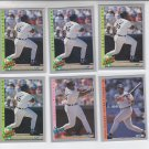 Cecil Fielder Trading Card Lot of (6) 1993 Fleer #227 #345 #711 x4 Tigers