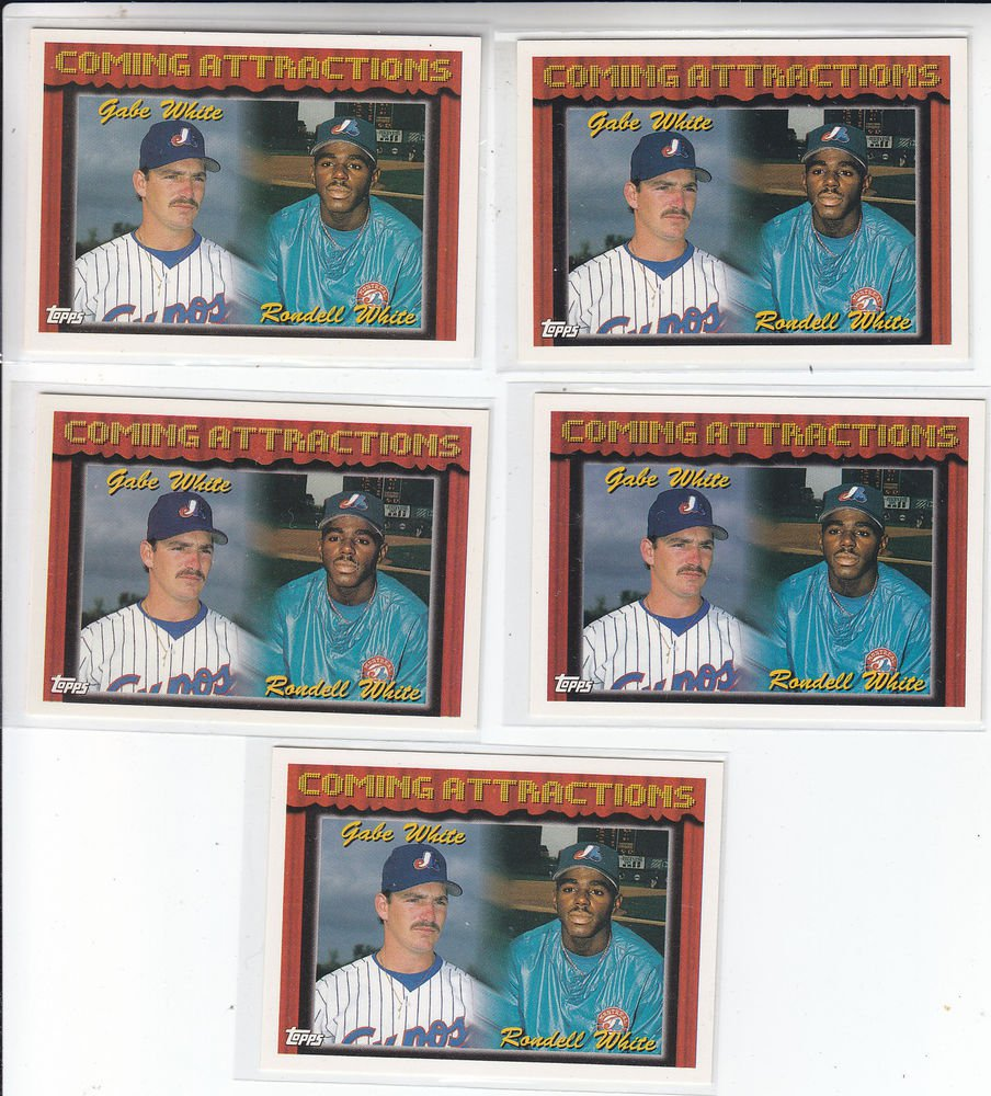 Rondell White Gabe White Trading Card Lot of (5) 1994 Topps #784 Expos
