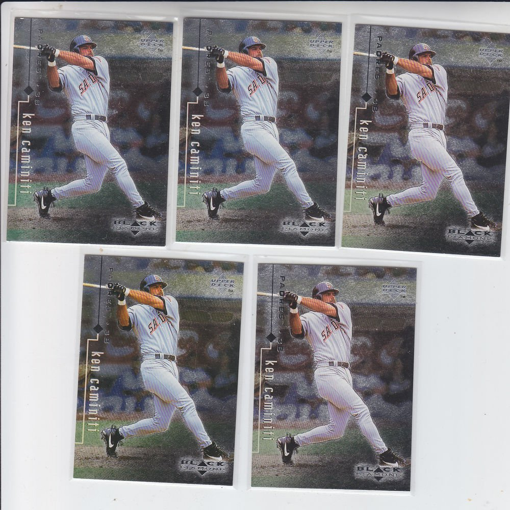 Ken Caminiti Trading Card Lot of (5) 1998 UD Black Diamond #70 Padres
