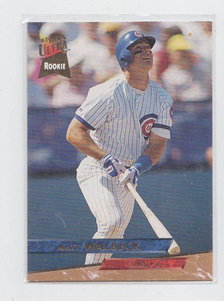 Matt Walbeck RC Trading Card Single 1993 Fleer Ultra #323 Cubs