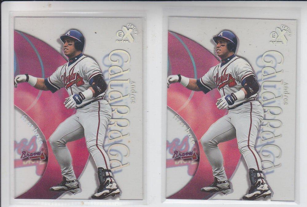 Andres Galarraga Trading Card Lot of (2) 1999 E-X Century #30 Braves