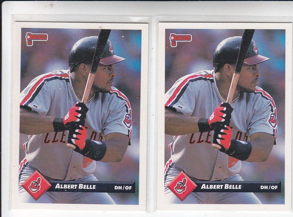 Albert Belle Trading Card Lot of (2) 1993 Donruss #435 Indians
