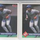 Henry Rodriguez Trading Card Lot of (2) 1993 Donruss #218 Dodgers