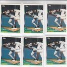 Omar Vizquel Trading Card Lot of (6) 994 Topps #593 Indians