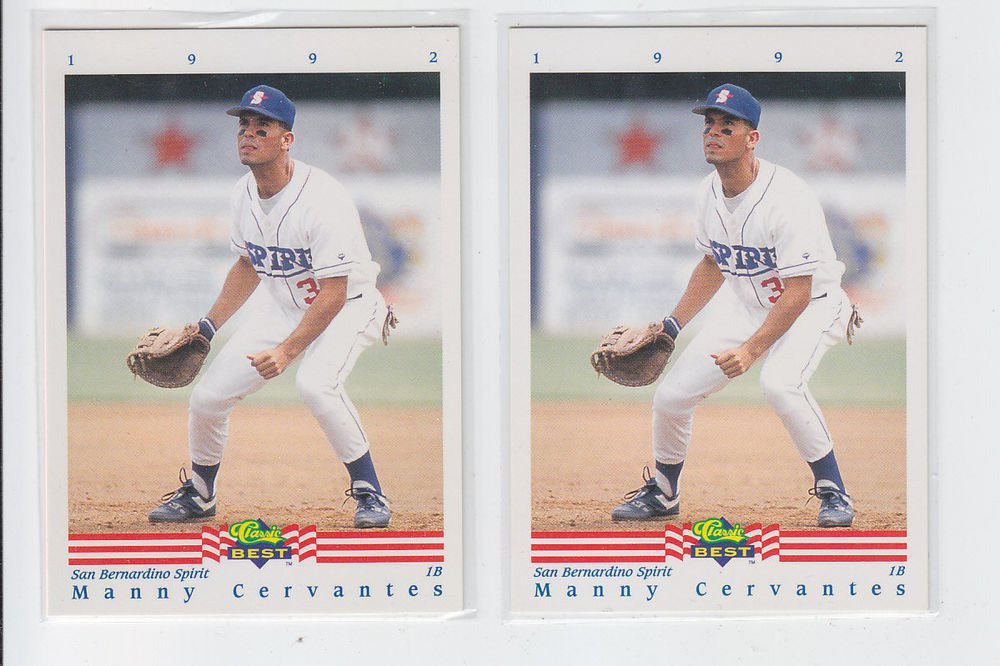 Manny Cervantes Trading Card Lot of (2) 1992 Classic/Best #151 Mariners