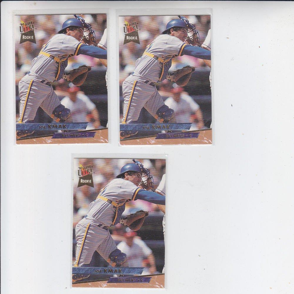 Joe Kmak Trading Card Lot of (3) 1993 Fleer Ultra #570 Brewers