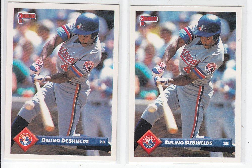 Delino DeShields Trading Card Lot of (2) 1993 Donruss #564 Expos
