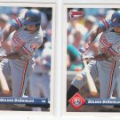 Delino DeShields Trading Card Lot of (2) 1993 Donruss #564 Expos