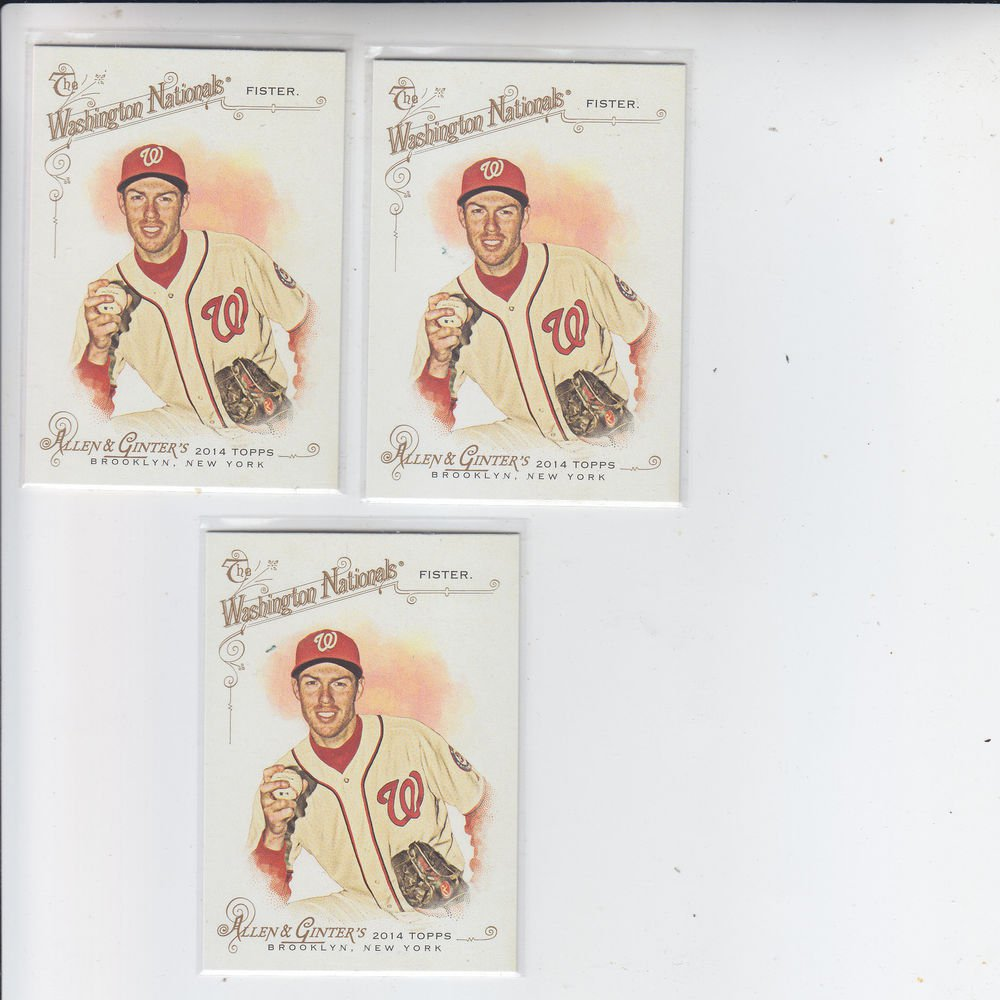 Doug Fister Trading Card Lot of (3) 2014 Topps Allen & Ginter #212 Nationals