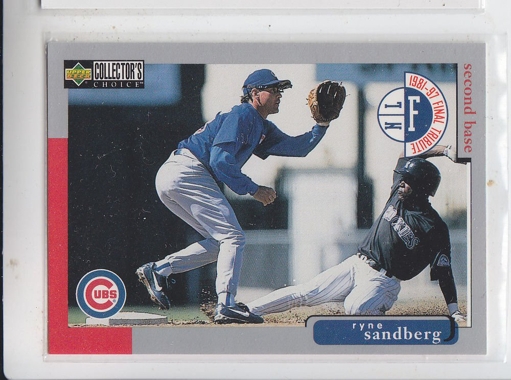 Ryne Sandberg Tradng Card Single 1998 Collector's Choice #55 Cubs
