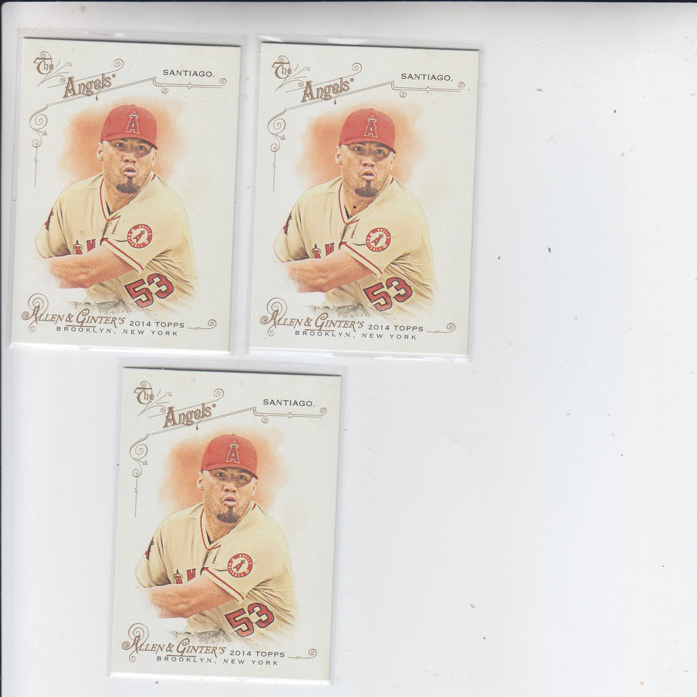 Hector Santiago Trading Card Lot of (3) 2014 Topps Allen & Ginter #7 Angels