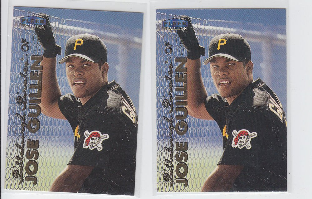 Jose Guillen Trading Card Lot of (2) 1999 Fleer Tradition #135 Pirates